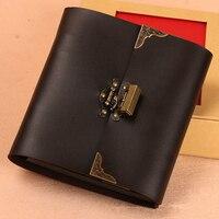 Искусственная кожа с замком фотографии альбомы ручной записки путешествия ручной работы DIY Семья детские подарки на день рождения Box Set Твор...