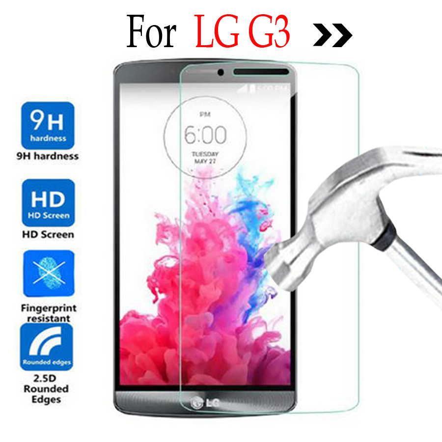 Tempered Glass For LG G3 D855 Screen Protector Cover Film For G3 D830 D858 D859 D850 D851 VS985 F400L F400K Protective Glass