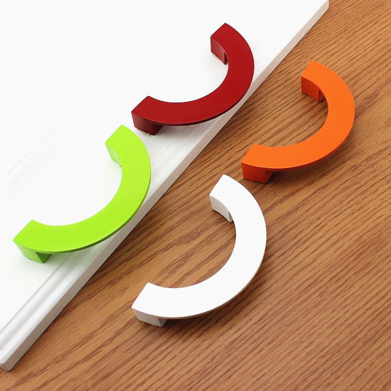 Colorful Drawer Pulls Handles Dresser Pull Kitchen Cabinet Door Handles Knob Hardware Red Green White Orange Children 96mm orange blue yellow green red black whie gold white silver ceramic kitchen cabinet drawer knob 38mm children room pull knobs