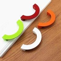 Colorful Drawer Pulls Handles Dresser Pull Kitchen Cabinet Door Handles Knob Hardware Red Green White Orange