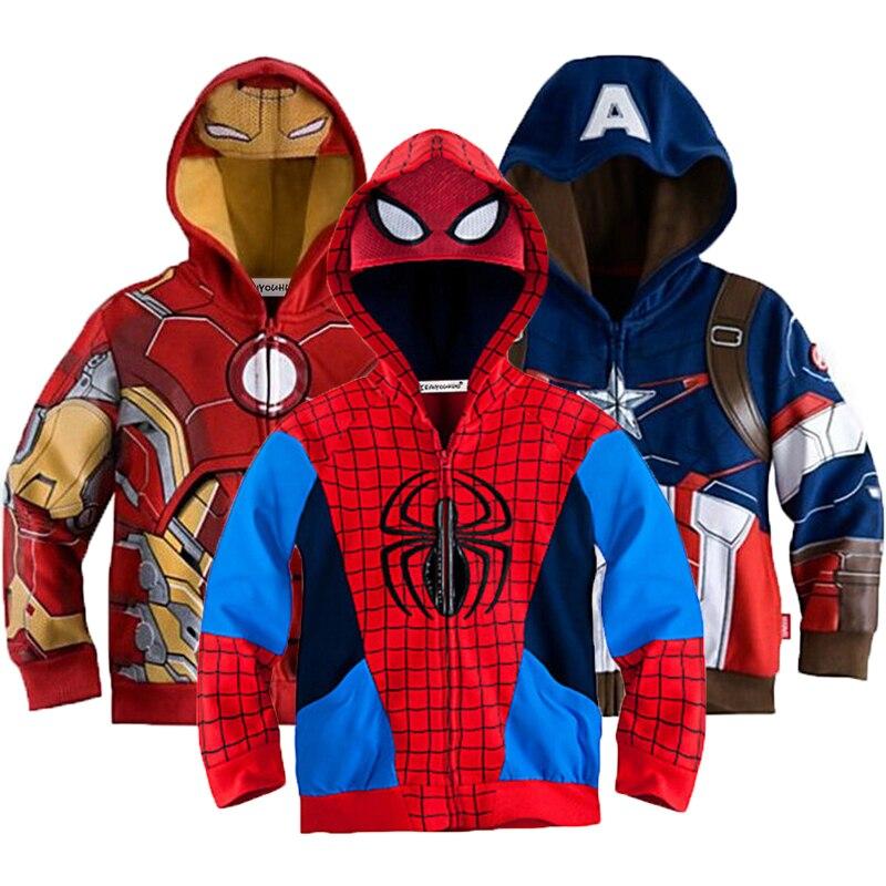 KEAIYOUHUO Frühling Herbst Jacke Für Jungen Kleidung Mode Jungen Spiderman Mantel Für Kinder Kostüm Jacken Oberbekleidung Kinder Kleidung