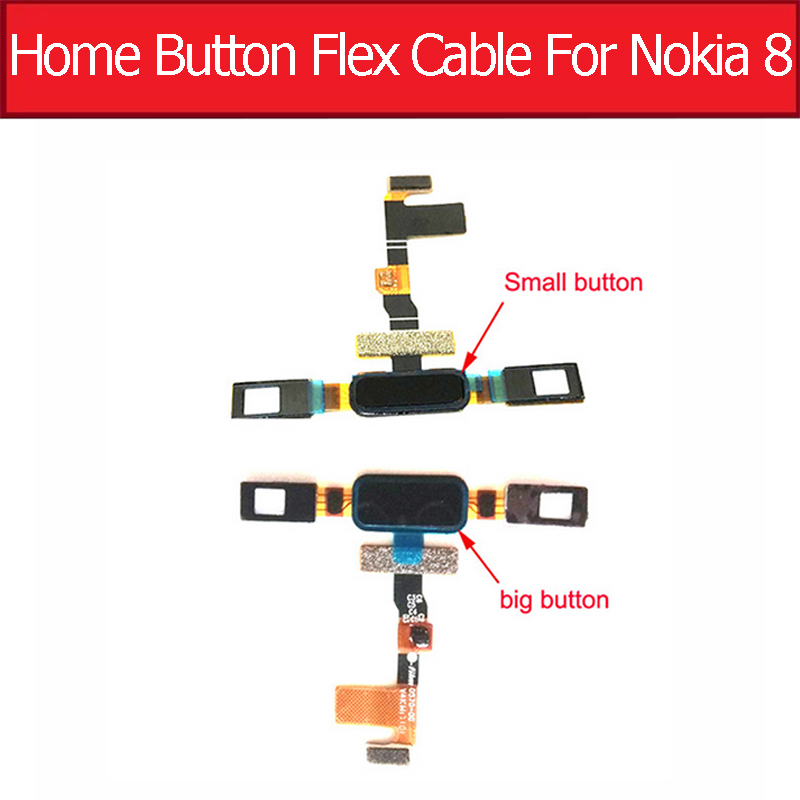 Fingerprint Sensor Home Button Flex Cable For Nokia 8 2016 TA1012 5.3