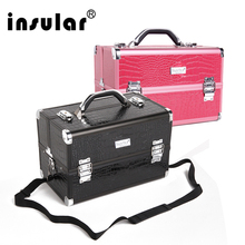 Free Shipping Professional Aluminum Cosmetic Case Makeup Cases With Excellent Workmanship Makeup Bag