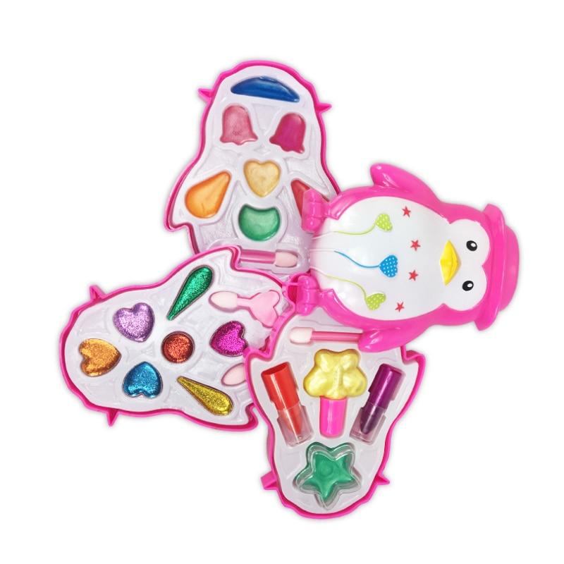 1 Set Children Girls Pretend Play Make Up Toys Kids Girls Makeup Tool Kit Toy Box Cosmetics Play Sets Toys