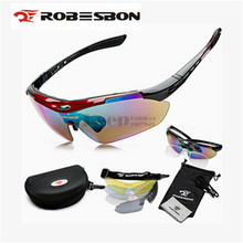 ROBESBON Outdoor Sports MTB Road Mountain Cycling Riding Bicycle Bike UV400 Sun Glasses Eyewear Goggles 5 lens