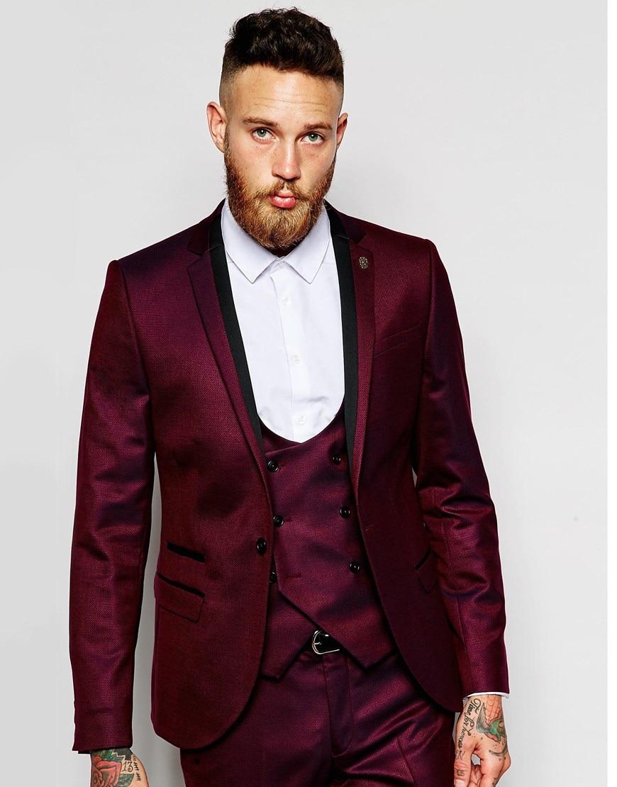 Aliexpress.com : Buy Brand New Groomsmen Notch Lapel Groom Tuxedos ...