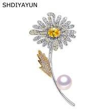 Shdiyayun 2019 брошь из жемчуга для женщин Два цвета броши в