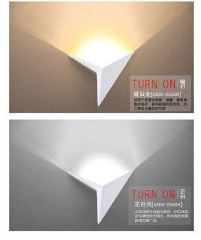 LED Wall LIGHT WHITE BLACK LED Wall Lamp 90-230v