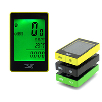 Multifunction Bicycle Mileage Clock Computer Odometer Speedometer Wireless Touch Noctilucent Backlit Counter SS