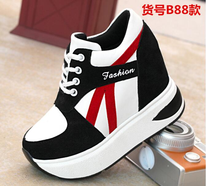 Free Shipping Shoes Woman Increasing Heel Autumn Style Casual Student Shoes Zapatos Mujer Zapatillas Deportivas