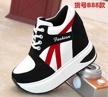 Envío Gratis Zapatos de Mujer Aumentar Talón Otoño Estilo Ocasional Estudiante Zapatos de Mujer Zapatillas Deportivas