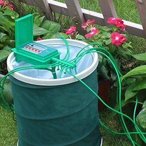 Садовый автоматический насос капельного орошения Полив наборы системы спринклер с умным контроллером таймер воды для бонсай, завод# 22018A