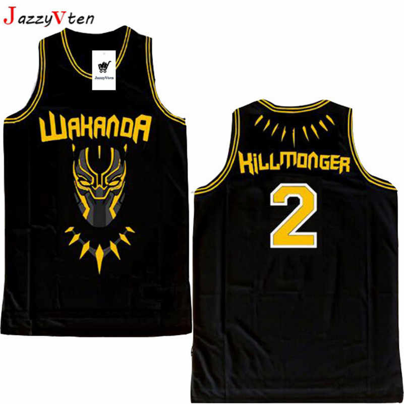 480193700bc 2019 new design movie men embroidery basketball jerseys T'Challa hill  monger sport basketball hiphop