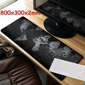 World Map Speed Keyboard 800x300mm Large Size Mouse Pad Rubber Mat Computer Gaming Mousepad Gamer Locking Edge Table Mat