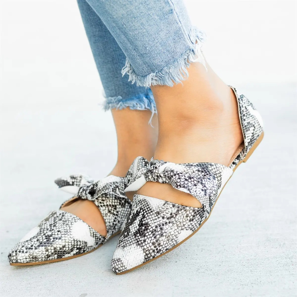 PUIMENTIUA 2019 Spring Summer Flats Women Shoe Bowtie Leopard Low Heel Slip On Footwear Female Pointed Toe Flat Solid ShoePUIMENTIUA 2019 Spring Summer Flats Women Shoe Bowtie Leopard Low Heel Slip On Footwear Female Pointed Toe Flat Solid Shoe