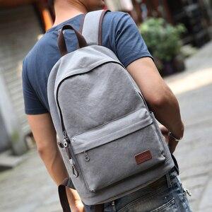 Image 3 - Muzee قماش الرجال على ظهره حقيبة ظهر بسعة كبيرة المدرسة حقائب للمراهقين كمبيوتر محمول USB شحن أكياس الذكور Mochila