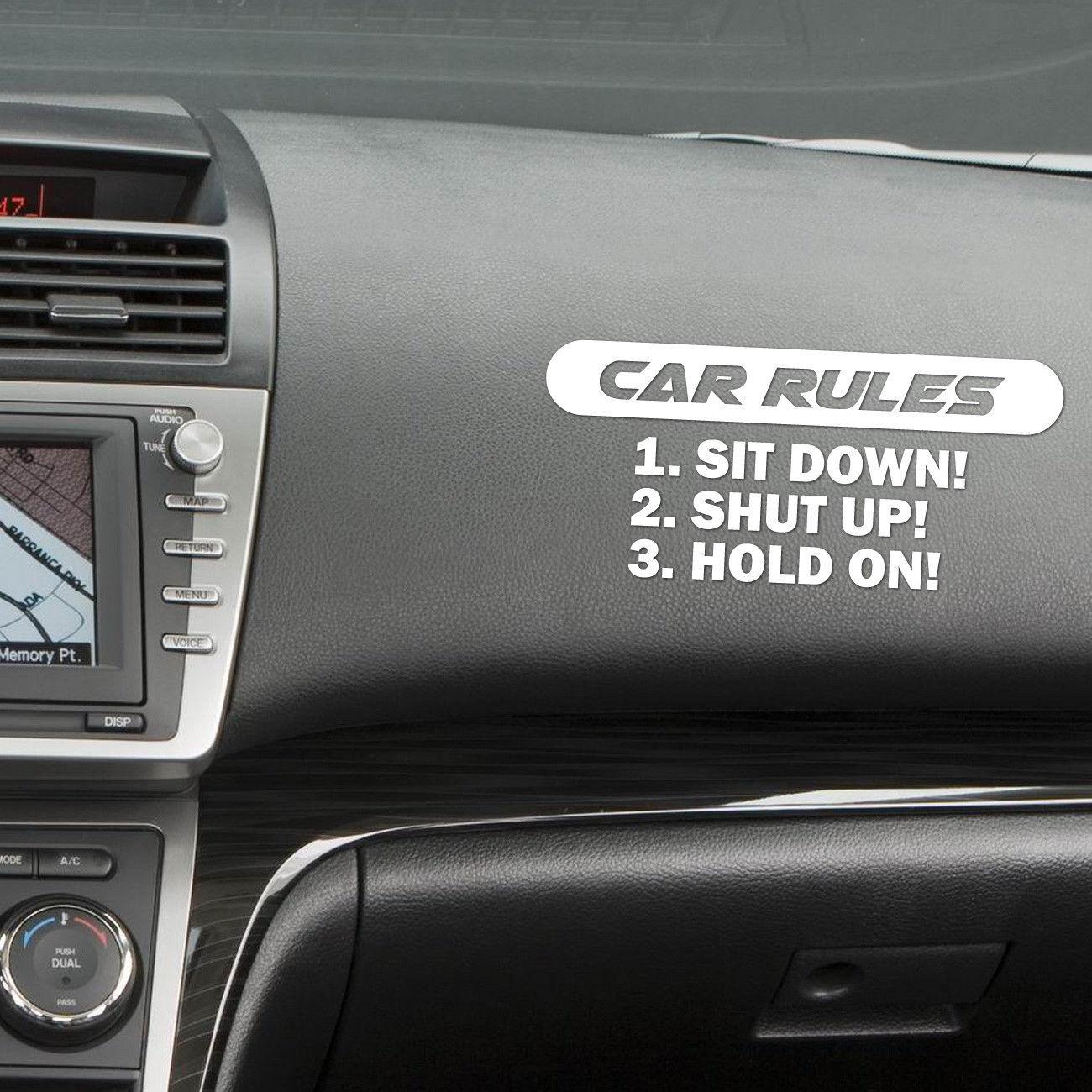 Автомобильный правила наклейка с силой автомобиль грузовик виниловая
