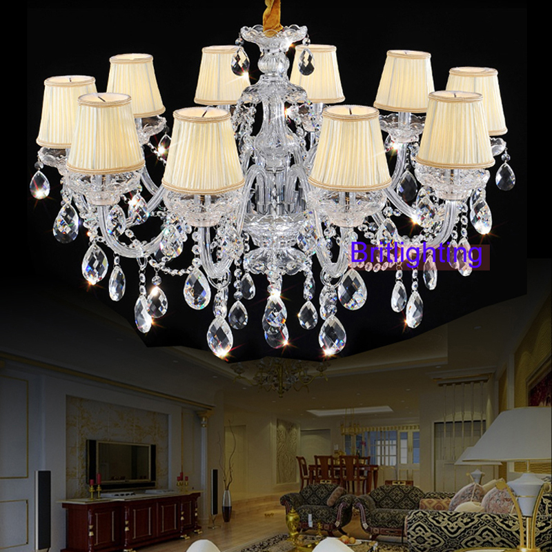 modern living room crystal chandelier lights fabric Cover chandeliers candle lighting crystal lamp shade chandelier modern light light up sneakers for adults light trendlight up drinking cups - title=