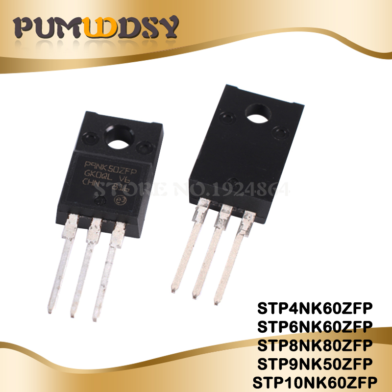 10pcs/lot New STP4NK60ZFP STP6NK60ZFP STP8NK80ZFP STP9NK50ZFP STP10NK60ZFP P4NK60ZFP P6NK60ZFP P8NK80ZFP P9NK50 P10NK60 TO-220F