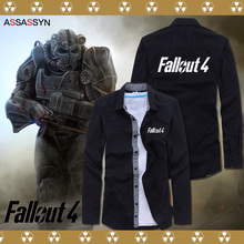 2016 new Cosplay Jackets Fallout 4 PC game fans geeks costume shirt Anime cos long sleeve Mens cardigan casual slim Sweatshirts