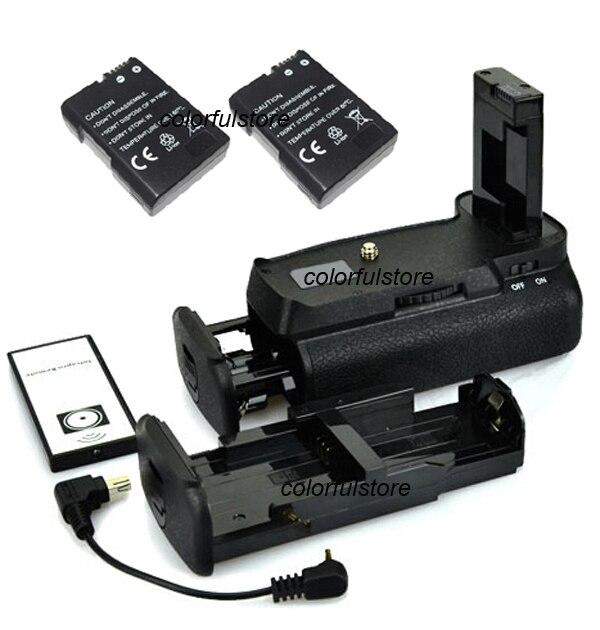 ФОТО 2-Step Vertical Shutter Battery Hand Grip Pack For Nikon D3100 D3200 D3300 D5300 as MBD31+IR Remote+ 2 EN-EL14+AA Battery Holder