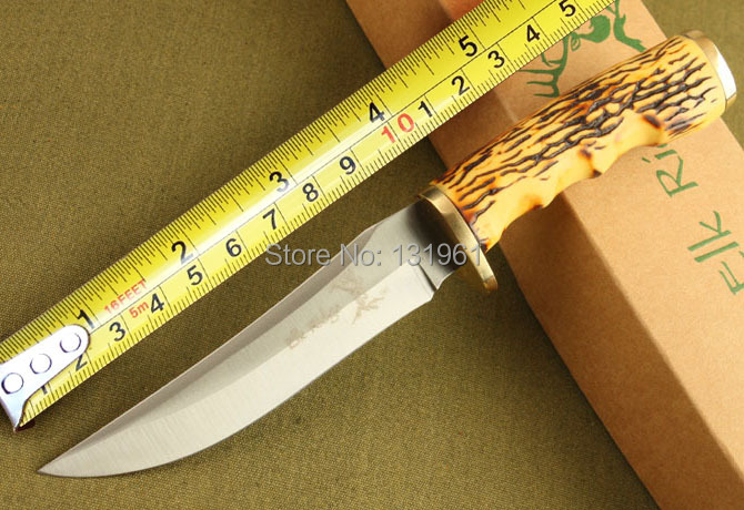 BROWNING Elk Ridge Hunting Fixed Knives,440 Blade Bone Handle Sanding Outdoor Survival Knife,Camping Tools. цены