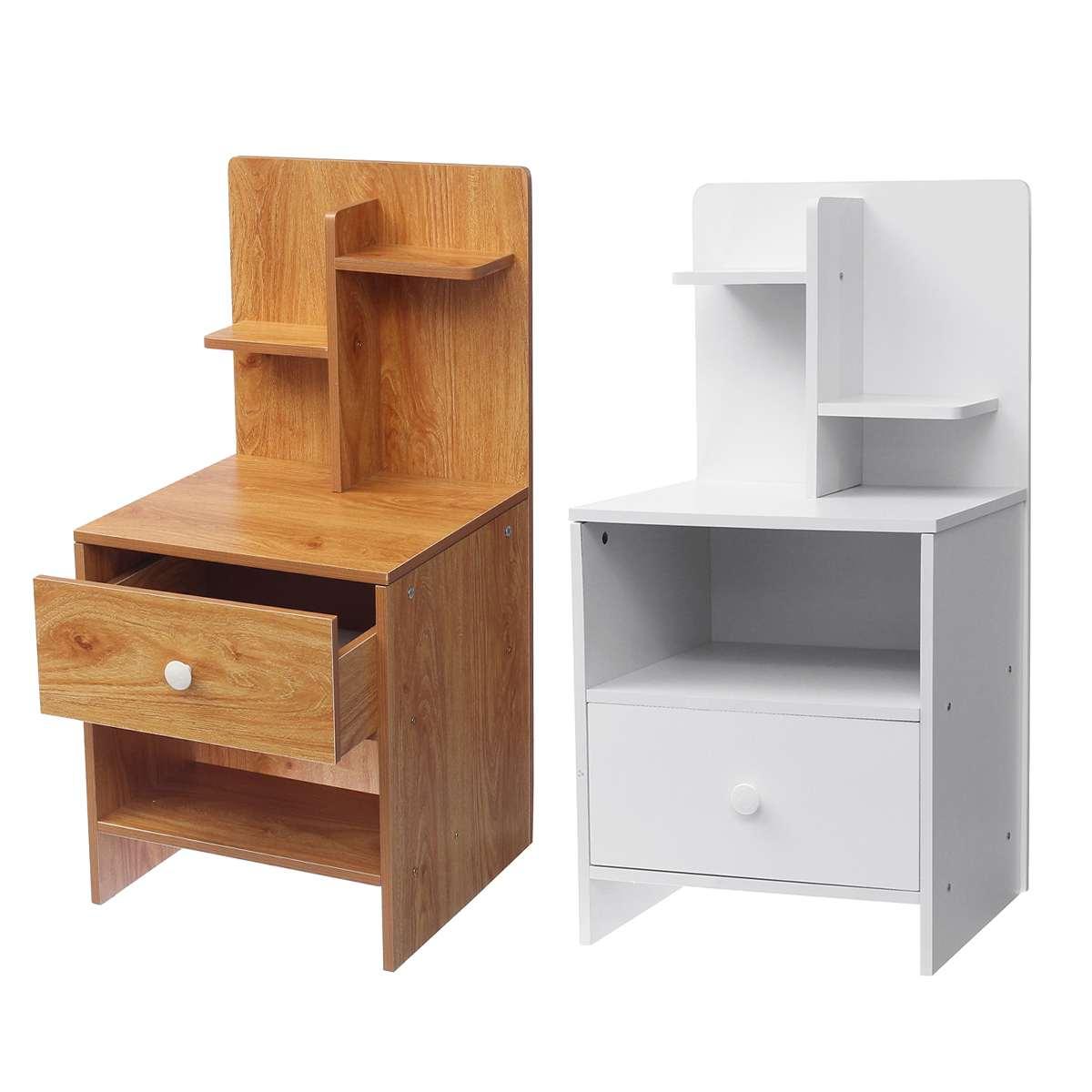Moderne élégant chambre Table de chevet unité armoire de rangement Table de nuit 1 tiroir