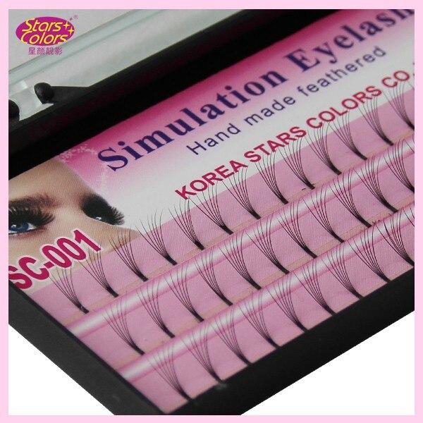 US $50 98 15% OFF|40 trays Wholesale Price Eyelashes 0 10mm C Curl silk  Makeup eyelash extensions Single Lashe Planting Natural-in False Eyelashes