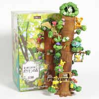 Dessin animé monstre forêt vol.1 Bulbasaur célébi Rowlet Oddish Bellossom Teddiursa Mini figurines en PVC jouets 8 pièces/ensemble