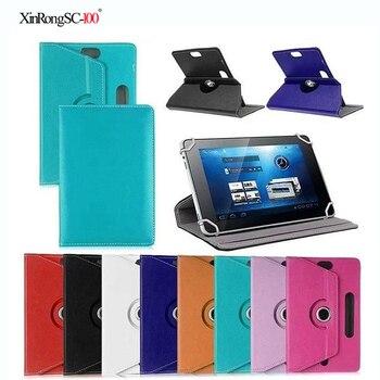 Para Archos 101c Neon/101D Neon/101 cobre 10,1 pulgadas giratorio 360 grados Universal Tablet PU Funda de cuero