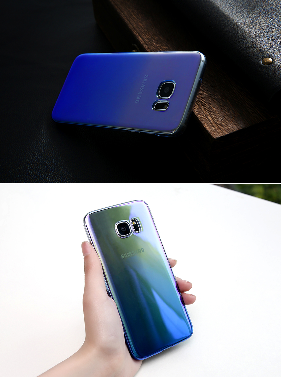 Blue Ray Gradient For Samsung S8 S8 Plus S7 S6 PC Case YYF (7)