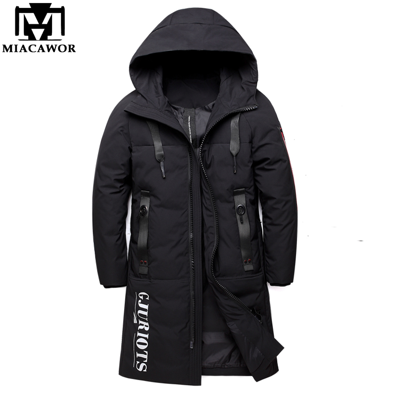 MIACAWOR New Thick Warm Winter   Down   Jacket Men Women Hooded Parka Fashion   Down     Coat   Male Casual Outerwear Plus Size 5XL J582