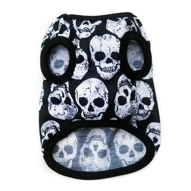 Skull Dog Vest Pet Clothes Coats Puppy Dog Summer Vest Sweatshirt Clothing Dogs Cat Cotton T-shirt Soft Puppy Dogs Clothing4