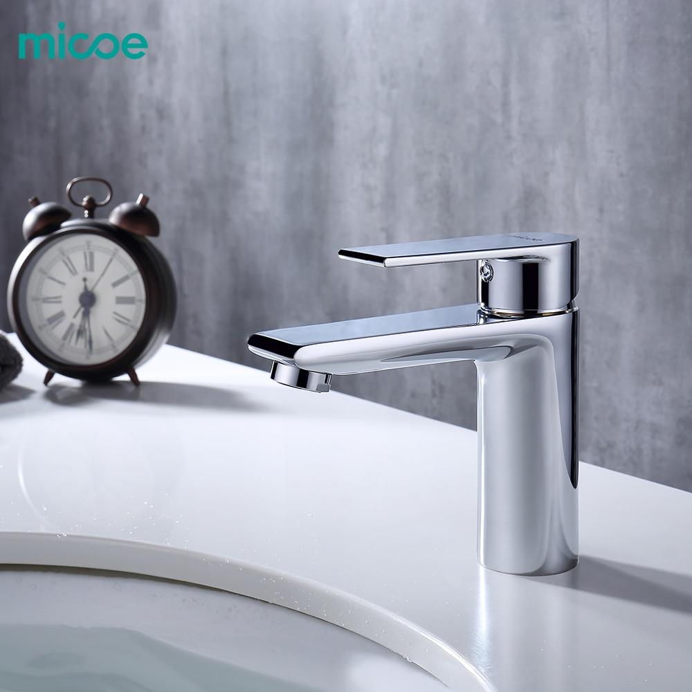 Micoe New Basin Faucet Basin Taps Bathroom Faucet Basin Sink Deck Mounted Basin Mixer Chrome Brass