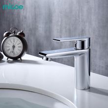 Micoe New Basin Faucet Taps Bathroom Sink Deck Mounted Mixer Chrome Brass H-HC217