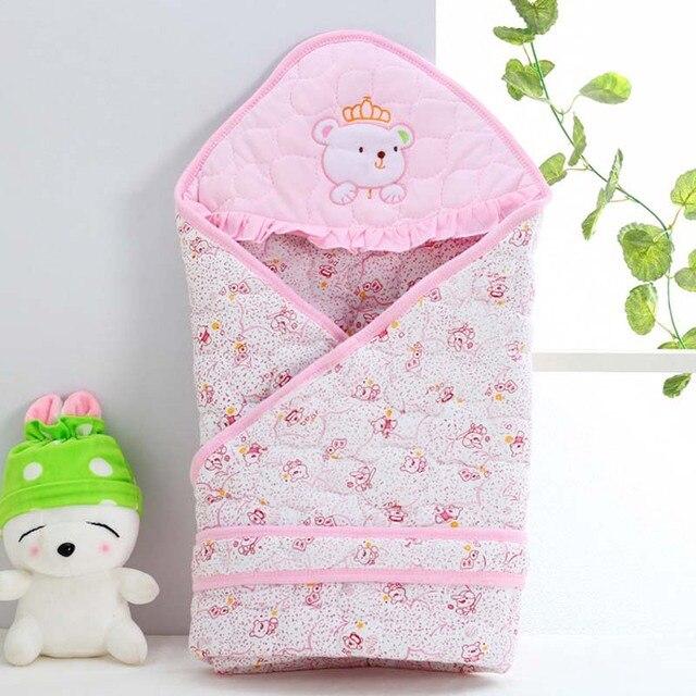 New Cotton Baby Blanket Newborn Envelope Baby Bedding Swaddle Infantil  Cobertor 80  80 cm Infant blanket 279bd6871