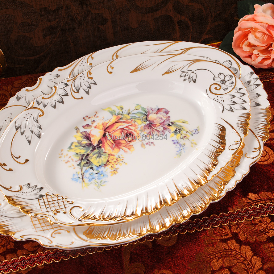 Free shipping 70 piece European luxury handmade relief dinnerware suit gilt embossed porcelain dinnerware set-in Dinnerware Sets from Home u0026 Garden on ... & Free shipping 70 piece European luxury handmade relief dinnerware ...