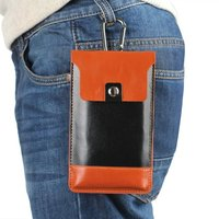 Outdoor Man Belt Clip Leather Case Cell Phone Pouch Climbing Cover For LG K10 2017 K8