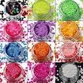 TCFXT-001 Neon Color resistente a los solventes de forma de Corazón y 12 colores de las clases de Brillo para el arte del clavo, gel de uñas, maquillaje y la decoración de DIY