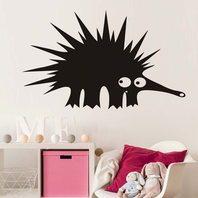Cartoon hedgehog wall sticker for kids room removable vinyl waterproof baby animal wall decals wall home