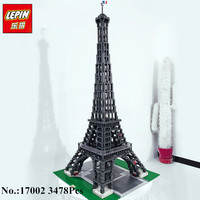 New LEPIN 17002 3478pcs The Eiffel Tower Model Building Kits Minifigures Brick Toys Compatible 10181 Christmas
