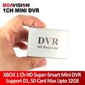 Xbox 1 canal hd super-smart mini dvr board a forma fashional dgital gravador de vídeo a cores black & silver