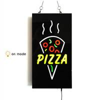 New Cheap Custom LED Shop Open Signs Pizza Business Animated Motion DISPLAY On Off Switch Bright