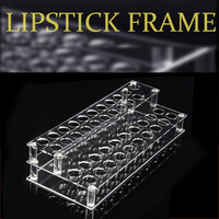 Rectangle Shape Clear Acrylic 41 Hole Lipstick Lip Gloss Nail Polish Cosmetics Organizer Display Holder Rack