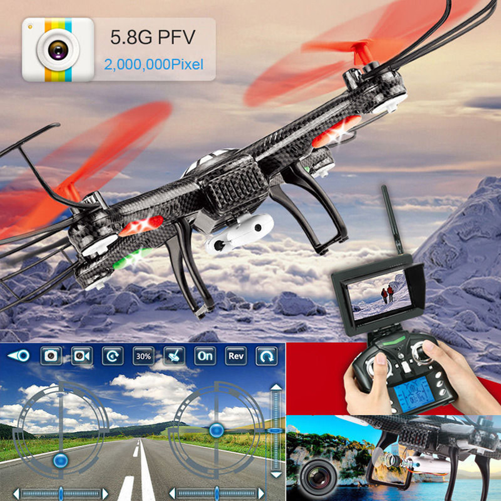 JJRC V686 RC Quadcopter With Camera HD Wifi 5.8G FPV One-key Return CF Mode Remote Control Helicopter Drone 2.0MP HD camera
