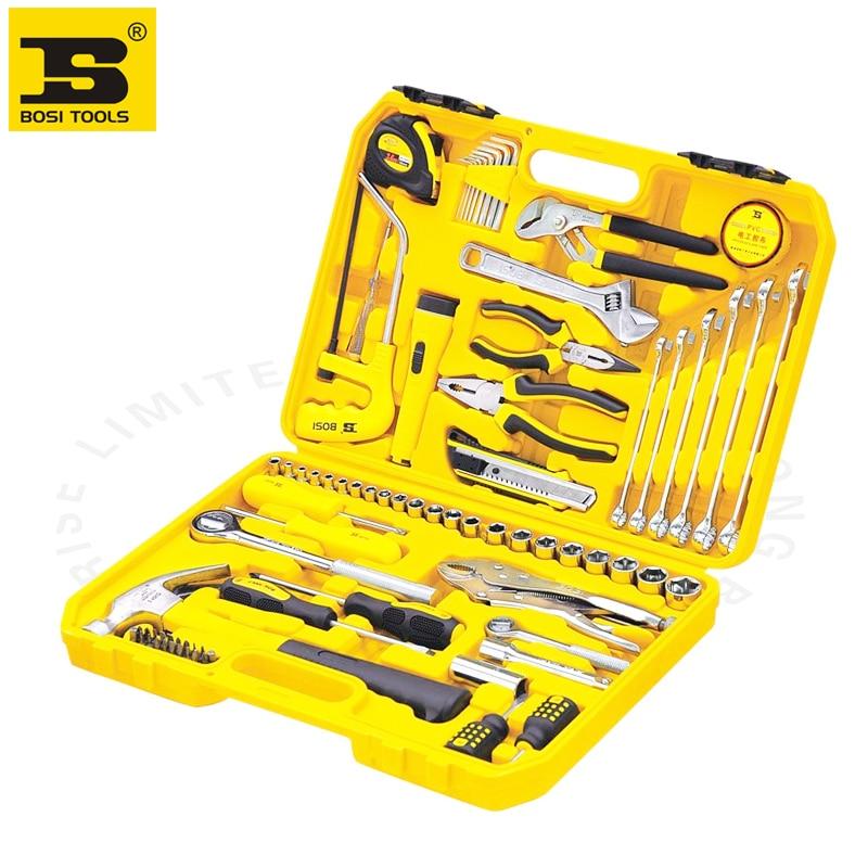 Bosi miglior prezzo 78 pz meccanica strumenti di riparazione kit, kit di utensili domestici