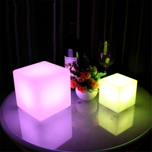 Image 3 - Thrisdar Dimmable 16 Color LED Cube Bedside Night Light Battery Powered Ambiance Cube Night light Kids Bedrooms Mood Table Lamps