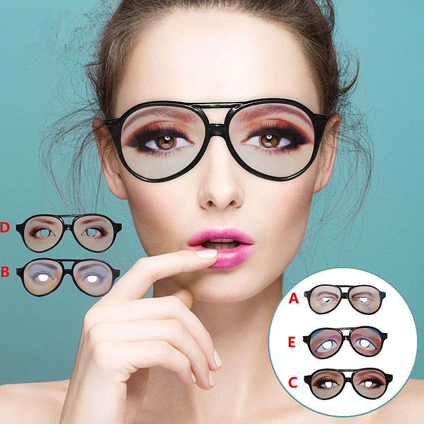 1PC Men Women Funny Glasses Eyes Frames Mischief Decoration Party Accessory Holiday Festival Halloween Decoration Adult Supplies