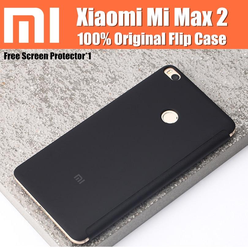 imágenes para Xiaomi mi max 2 caso original basado en magnética auto wake-up/sleep inteligente flip casos de la cubierta con el soporte para xiaomi mi max2 6.44 pulgadas