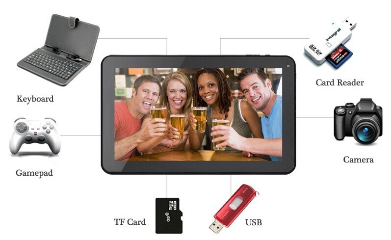 9 POUCE Tablet PC 8 GB ROM AVEC BLUETOOTH WIFI DOUBLE CAMÉRA HD Écran Smart Tablet